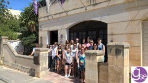gse-malta-junior-programme-students-departing-for-orientation-walk-from-school