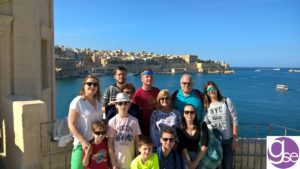Families learning English in Malta at the Three Cities in Malta