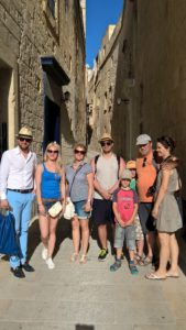 Gateway School of English students at Mdina - Malta's old capital city