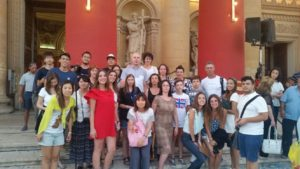 Gateway School of English students Festa Night in Mosta