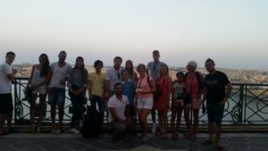 international student at Gateway School of English visiting Valletta