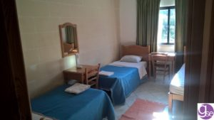 English school accommodation triple room